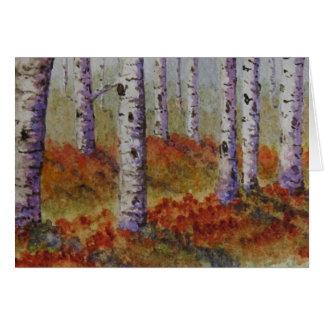 Autumn Aspens Card