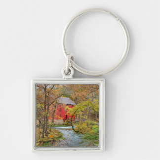 Autumn At Alley Mill Silver-Colored Square Key Ring