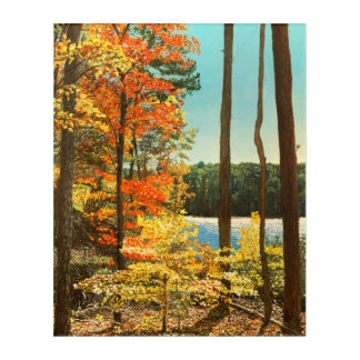 Autumn at Big Lake, Umstead Park Acrylic Wall Art