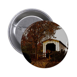 Autumn at Centennial Covered Bridge Button