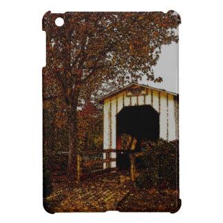 Autumn at Centennial Covered Bridge Cover For The iPad Mini