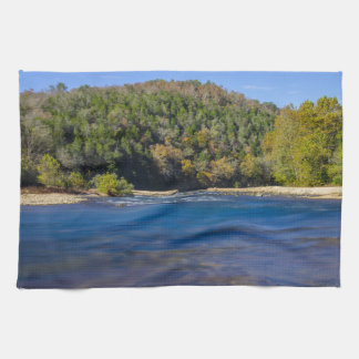 Autumn At North Fork Tea Towel