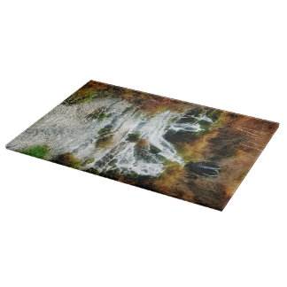 Autumn at Roughlock Falls Landscape Cutting Board