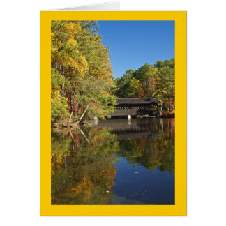 Autumn at Stone Mountain Covered Bridge Greeting Card