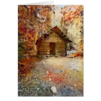 Autumn at the Cabin Card