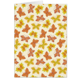 Autumn atmosphere with butterfly-shaped leaves card