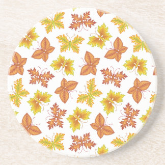 Autumn atmosphere with butterfly-shaped leaves coaster