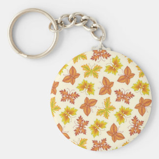 Autumn atmosphere with butterfly-shaped leaves key ring