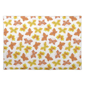 Autumn atmosphere with butterfly-shaped leaves placemat