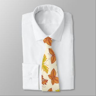 Autumn atmosphere with butterfly-shaped leaves tie