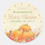Autumn Baby Shower- Round Stickers