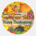 Autumn Basket ~ Envelope Seal/sticker