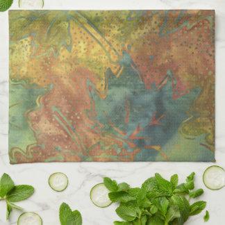 Autumn Batik Tea Towel