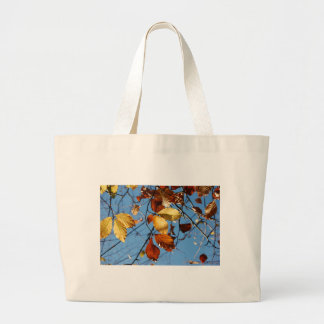 Autumn beech leaves canvas bag
