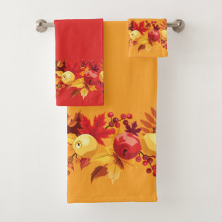Autumn Berries Bathroom Towel Set
