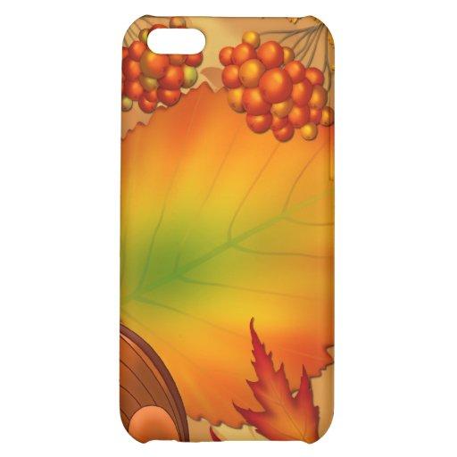 Autumn Berries iPhone 5C Cases