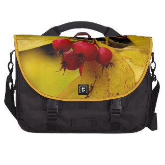 Autumn berries laptop messenger bag