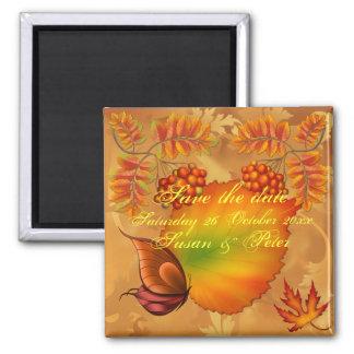 Autumn Berries Square Magnet