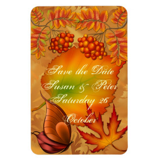 Autumn Berries Save the Date Magnet