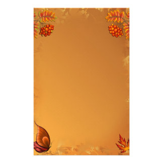 Autumn Berries Stationery Design