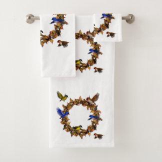 Autumn Birds Bath Towel Set