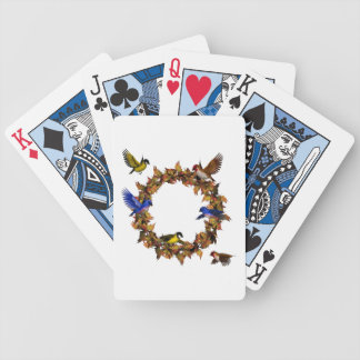 Autumn Birds Bicycle Playing Cards