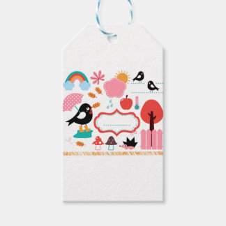 AUTUMN BIRDS BIG KIDS COLLECTION GIFT TAGS