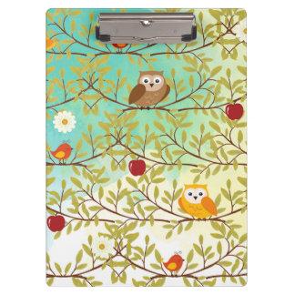 Autumn birds clipboard
