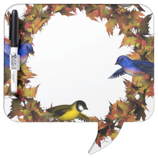 Autumn Birds Dry Erase Board