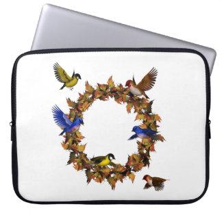 Autumn Birds Laptop Sleeve