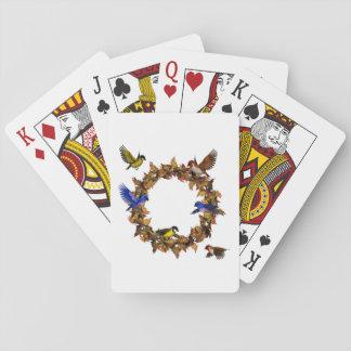 Autumn Birds Playing Cards