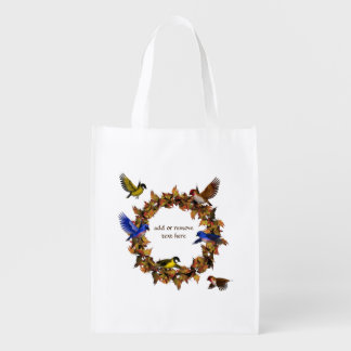 Autumn Birds Reusable Grocery Bag