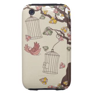 autumn birds tough iPhone 3 cover