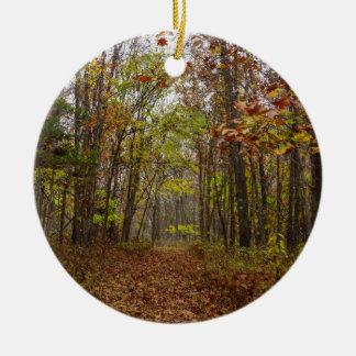 Autumn Bliss Round Ceramic Decoration
