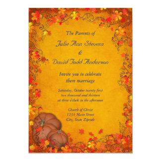 Autumn Bliss Wedding Card