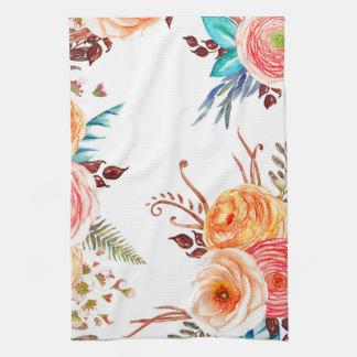 """Autumn Blooms"" kitchen towel"