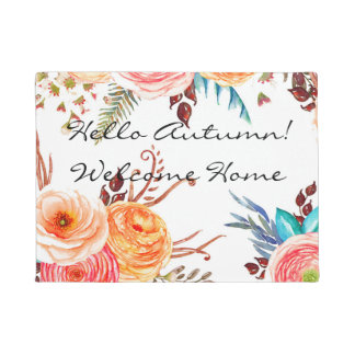 """Autumn Blooms"" Welcome Home Door Mat"