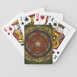 Autumn Blossom Mandala Playing Cards