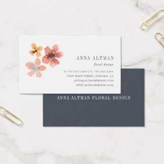 Autumn Blossom | Watercolor Floral Business Card