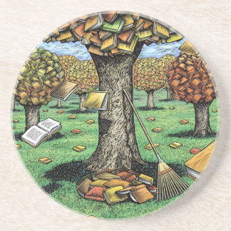 Autumn Books Coaster