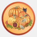 Autumn Bounty Round Sticker