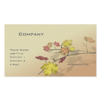 Autumn Branch Pack Of Standard Business Cards