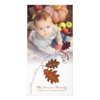 Autumn Branch Thanksgiving Holiday Photo Card