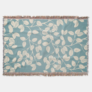 Autumn Branches & Leaves Throw Blanket