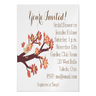 Autumn Bridal Shower Invitation 5x7 Magnetic Card Magnetic Invitations