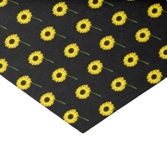 Autumn Bride Sunflower Wedding Party Tissue Paper