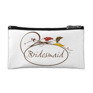 Autumn Bridesmaid Cosmetic Bag