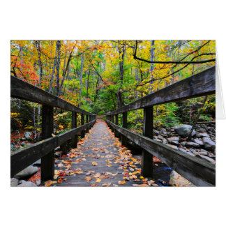 Autumn Bridge Card