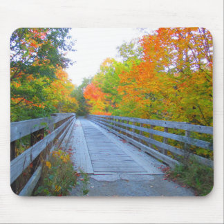 Autumn Bridge Mousepad