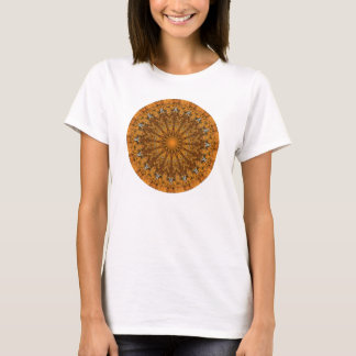 Autumn Brown, Orange, and Gold Mandala T-Shirt